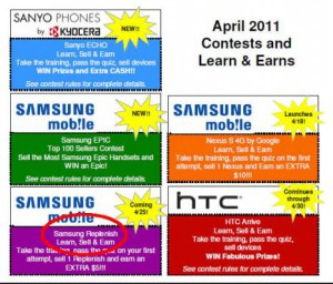 Android phone Is Green- Samsung Replenish