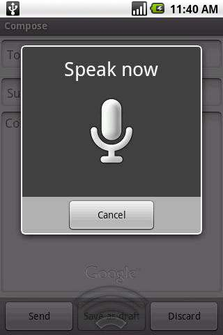 Voice text app