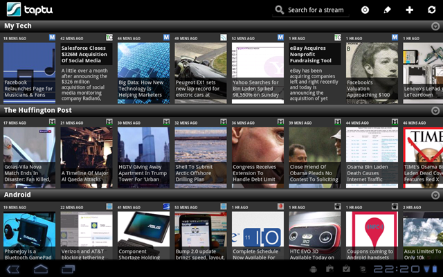 Taptu 1.4 For The Android Tablet, with Three Exclusive Features
