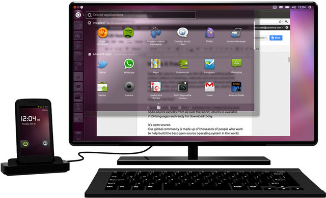 canonical's ubuntu for android