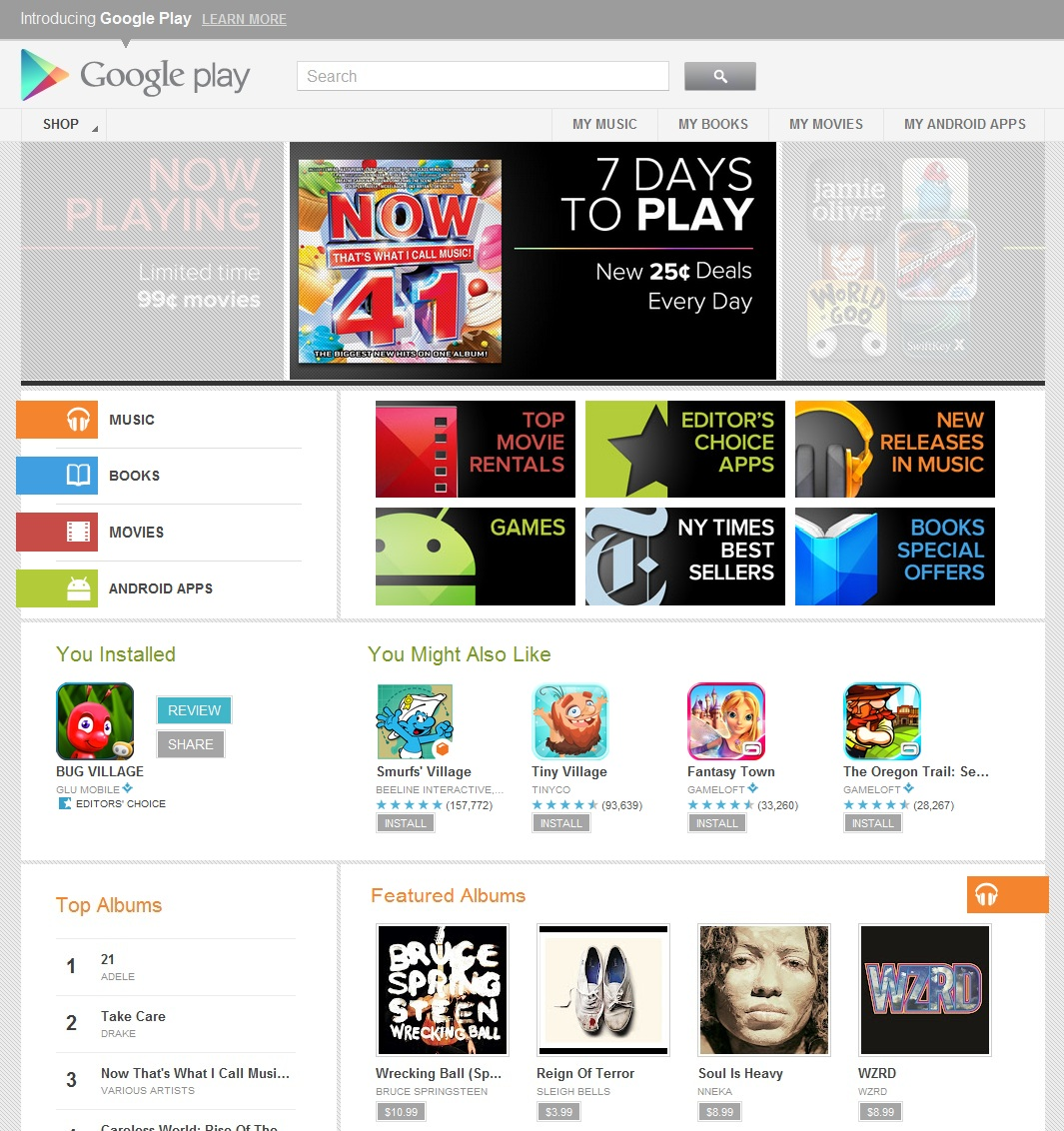 The google play