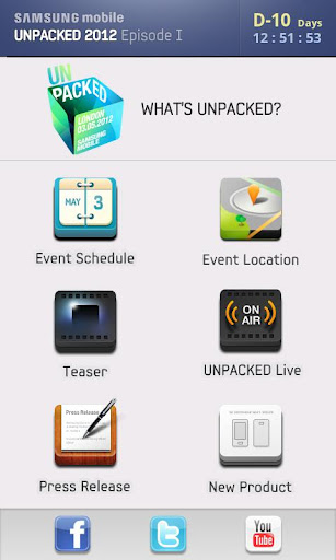 samsung mobile unpacked 2012 app