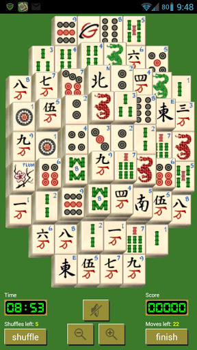 Solitaire Mahjong – Click on Matching Tiles to Clear the Field