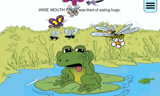 Wide Mouth Frog – An Interactive Storybook App with a Great Message