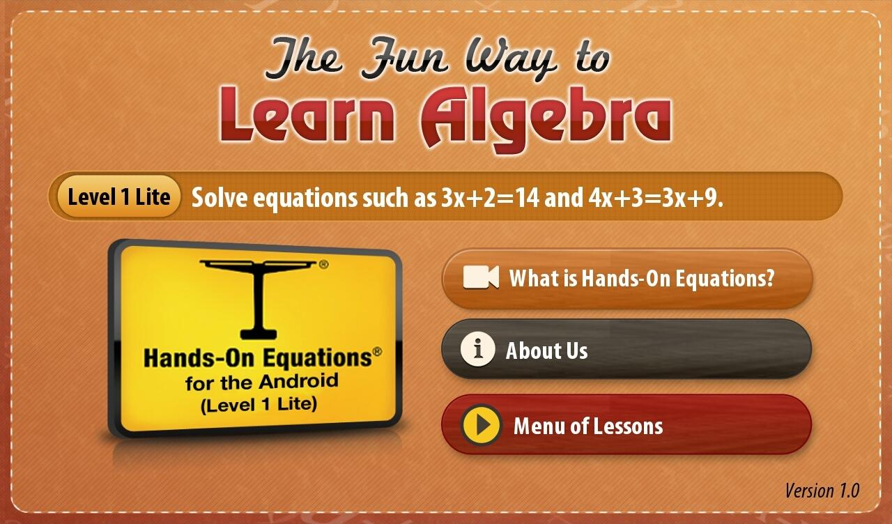 Learning Algebra for Free