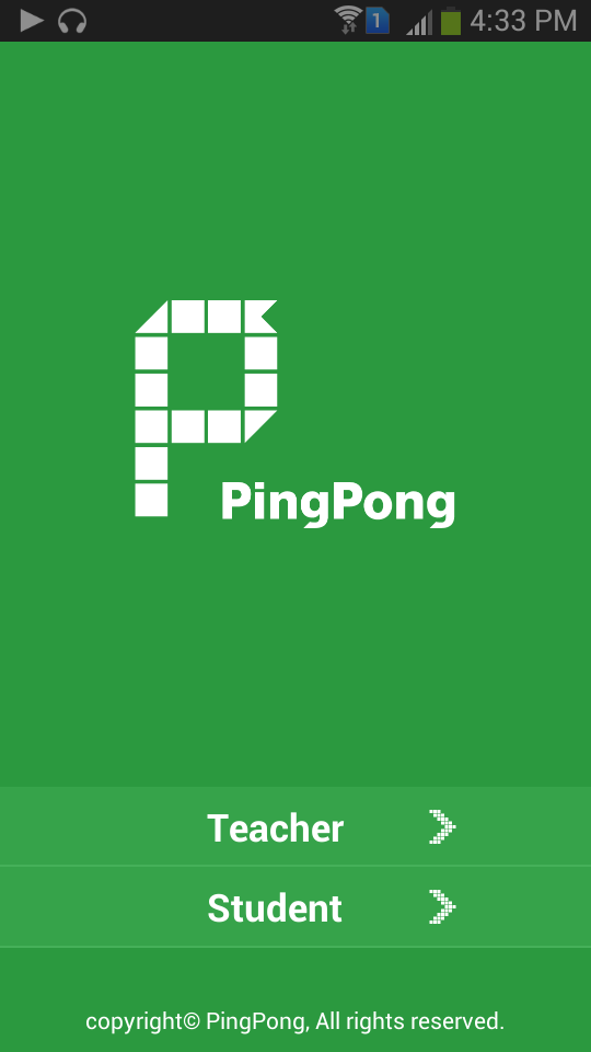 PingPong-Home Screen