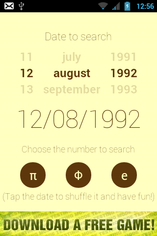 Android Date Finder App