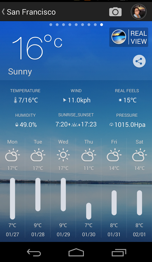 Android Weather Channel App