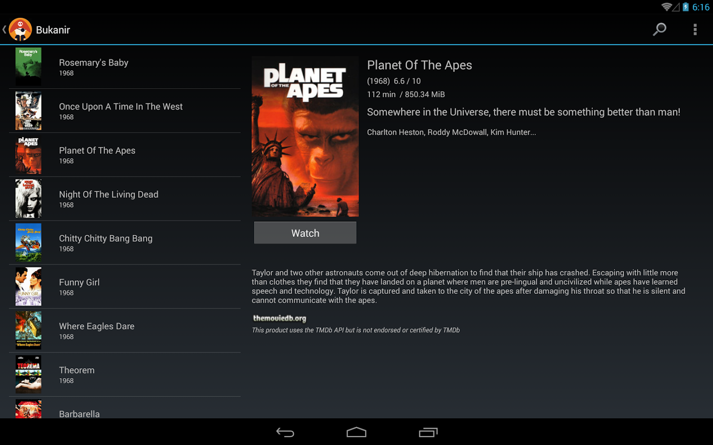 Movie Streaming Media App