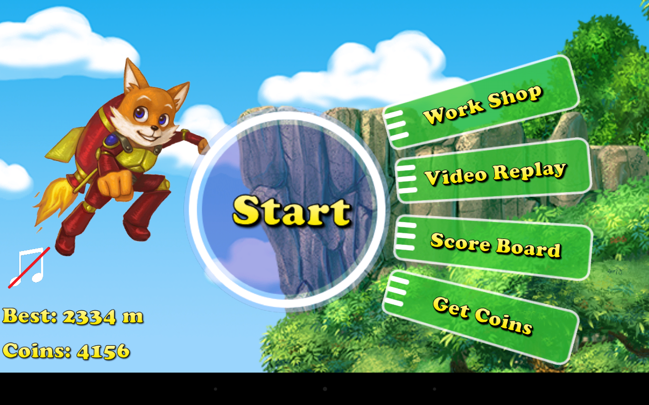 Fox Tales: Rocket Run -  Game for android apps