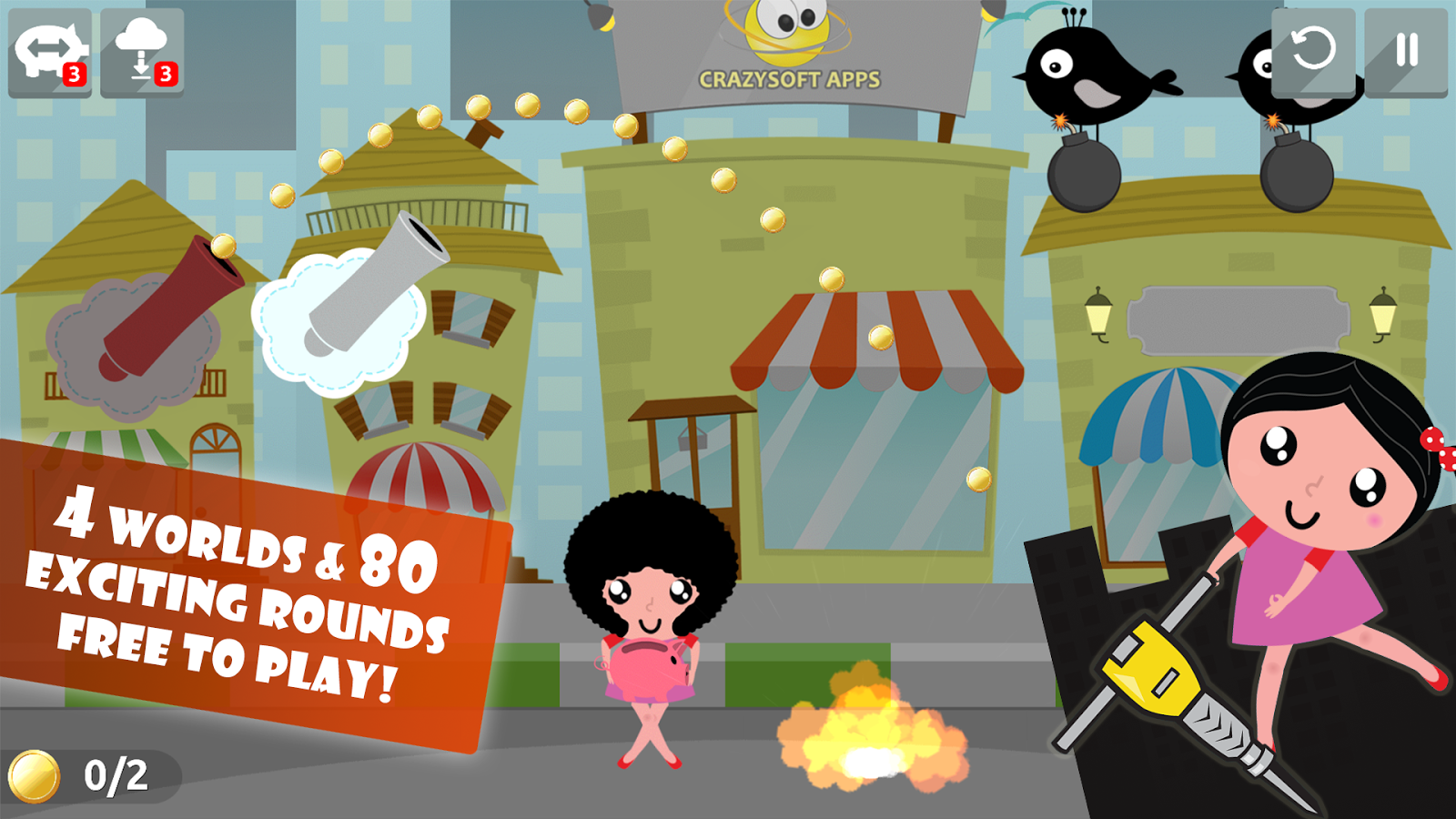 Android Raining coins Free Game