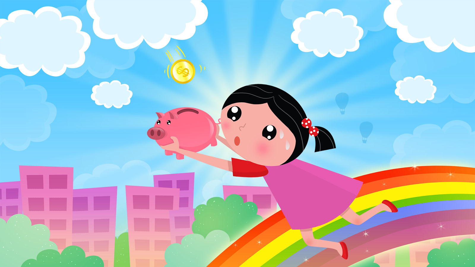 Raining coins for Android Game