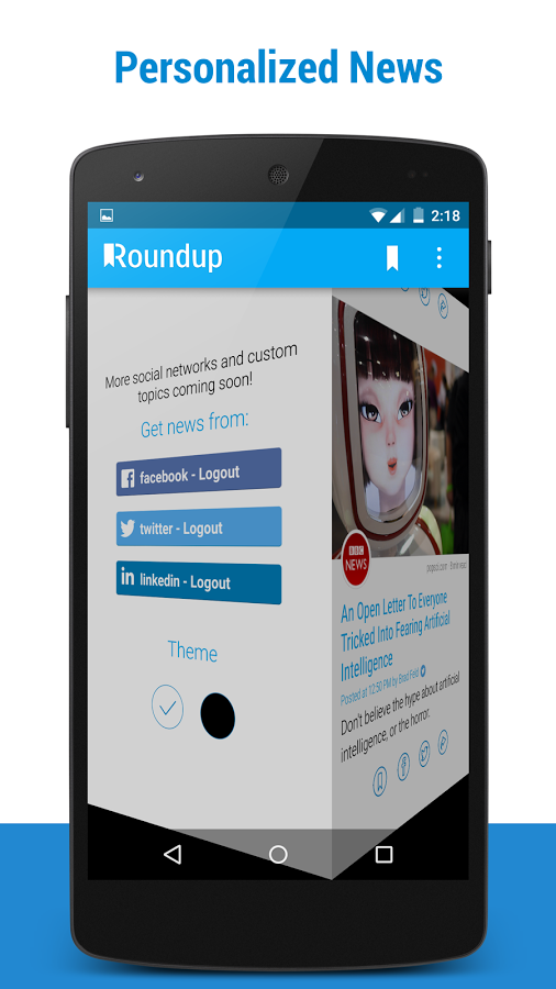 Roundup Social News for Android