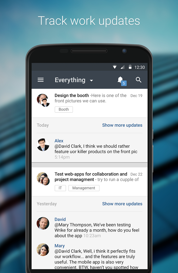 Android App: Wrike - Project Management