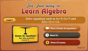 Learn Algebra with Hands-On Equations 1