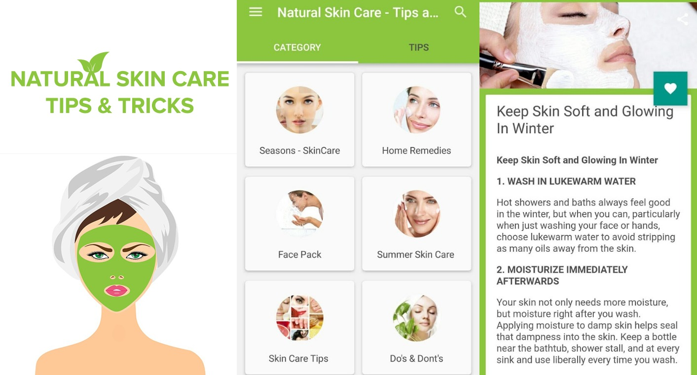 Natural Skin Care Beauty Tips & Homemade Remedies  Ask Your Android